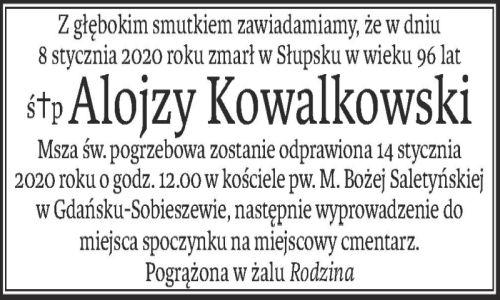(Polski) Zmarł Prof. dr hab. Alojzy Kowalkowski